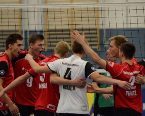 Volleyball-Internat Frankfurt: Gut verkauft und knapp verloren